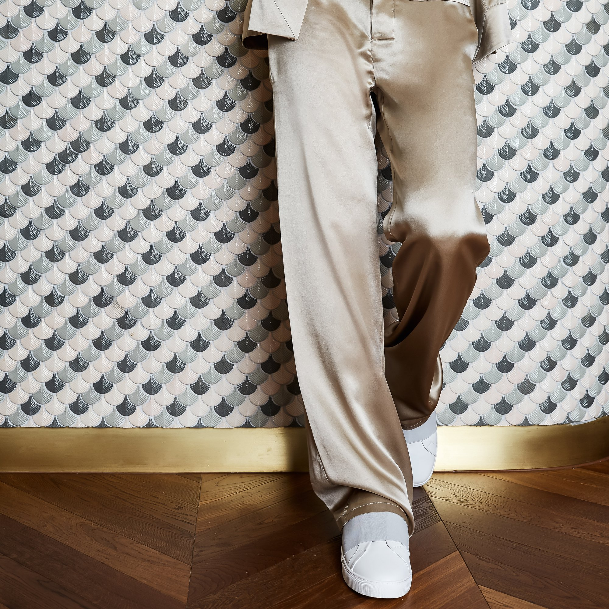 Ory silk trousers