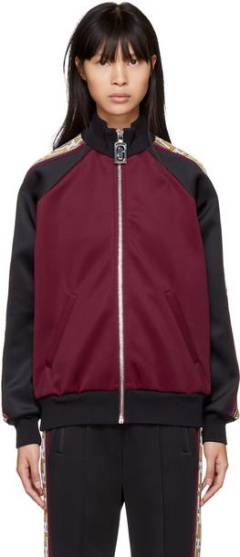 jacket black burgundy