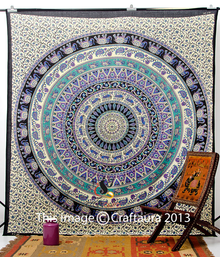 Indian Wall Hanging Tapestry Mandala Tapestry Hippie Tapestry Queen Bedspread