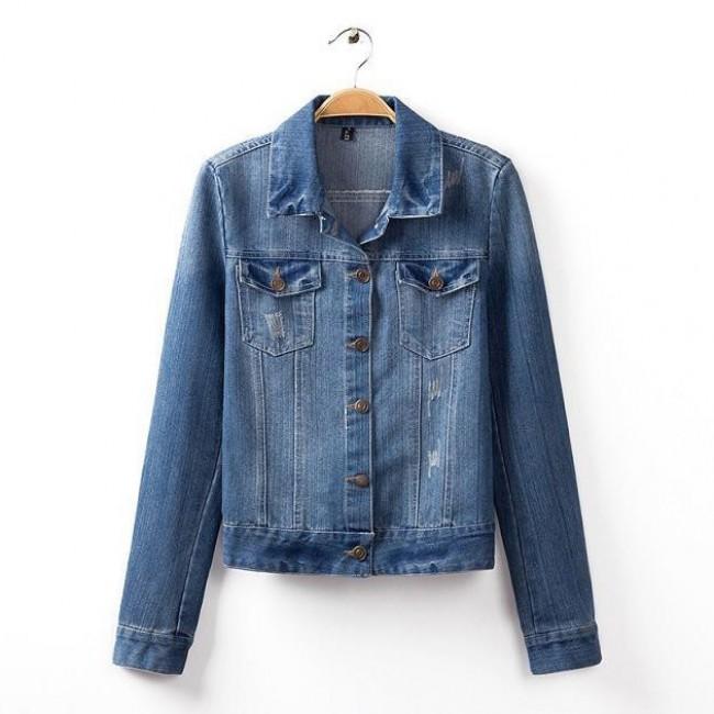 Denim lapel jacket