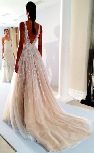 dress beautiful wedding dress prom dress prom sequins gold sequins hot