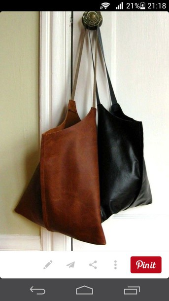 bag leather bag tote bag