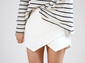 skirt,clothes,fashion,love  it,white skirt,legs,wrap skirt,mini,mini skirt,pretty,skorts,shorts,white,sweater,hat,girl,girly,classic,classy,pastel