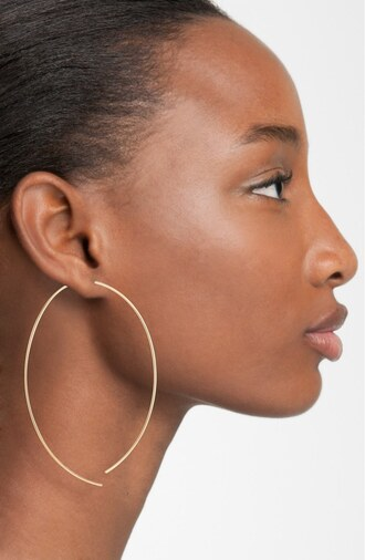 jewels rose gold hoop earrings geometric