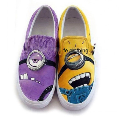 Despicable me painted shoes · fe clothing · online store powered by storenvy