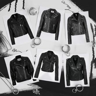 oracle fox blogger jacket leather jacket rock black jacket perfecto