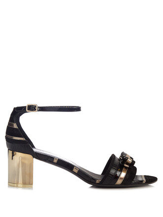 sandals leather sandals leather gold black shoes