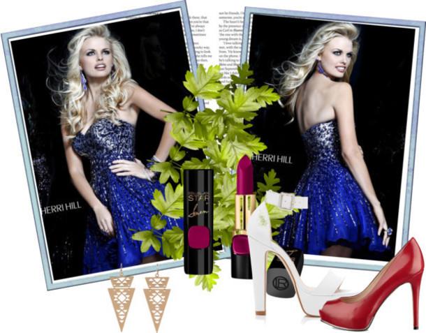 dress 2014 sherri hill 8524 blue sparkle dress