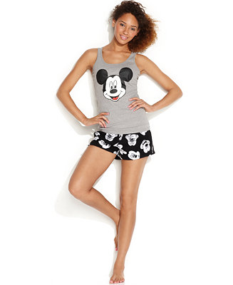 Briefly stated mickey tank and boxers shorts set