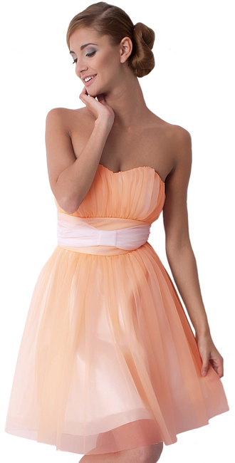 dress dream it wear it clothes sweetheart sweetheart neckline strapless strapless dress strapless dresses bandeau sleeveless dress bandeau dresses peach peach dress peach dresses skater skater dress cocktail cocktail dress party party dress formal formal dress prom prom dress elegant elegant dress elegant dresses free shipping summer outfits girly romantic summer dress pool party