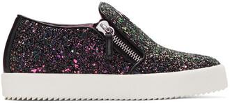 glitter london sneakers black shoes