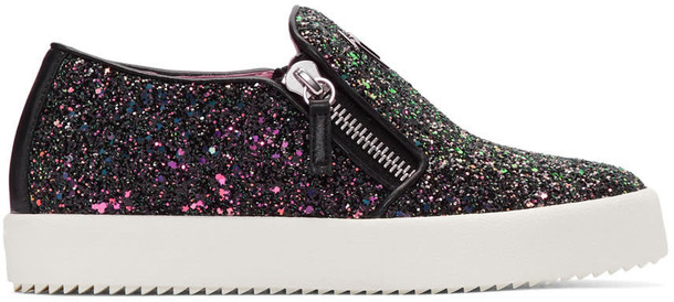 Giuseppe Zanotti glitter london sneakers black shoes