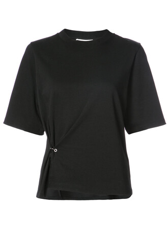 t-shirt shirt women cotton black top