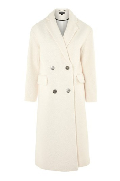 Topshop coat oversized texture white