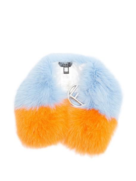 Fendi fur scarf fur scarf blue