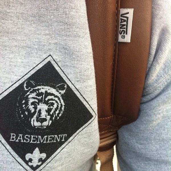 cold cuts merch basement bear crew neck