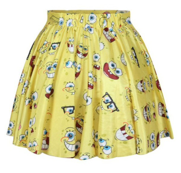 skirt yellow spongebob
