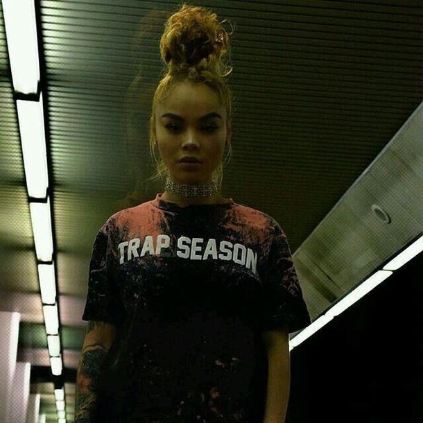 Shirt Trappin Trap Tumblr Outfit Tumblr Tumblr Girl Baddies