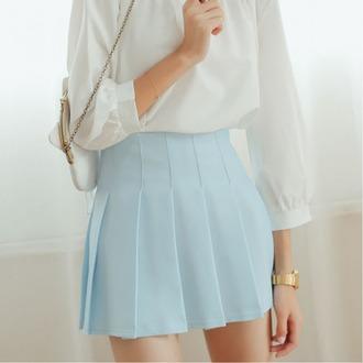 skirt blue summer fashion style trendy hot boogzel