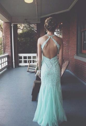 dress mint prom prom dress long prom dresses 2014 prom dresses backless prom dress mint green dress sparkles high heels glitter fancy