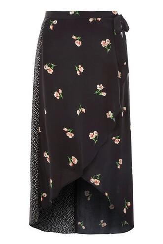 skirt wrap skirt print