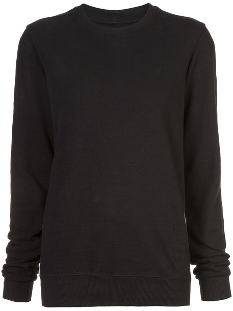sweater women classic cotton black