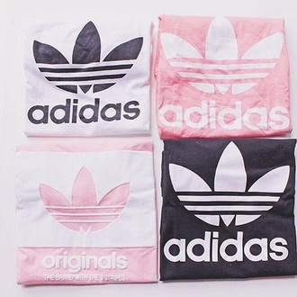 shirt adidas adidas originals pink sporty white white t-shirt black brand instagram pastel pastel pink tumblr aesthetic tumblr aesthetic grunge soft grunge black and white pink and white