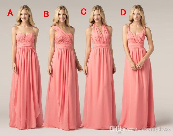 2016 Cheap Chiffon Convertible Bridesmaid Dresses Maid Of Honor Dress Floor  Length Pleated Plus Size Wedding Party Gowns Custom Made Burnt Orange ...