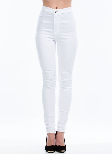 white high waisted skinny jeans | Gommap Blog