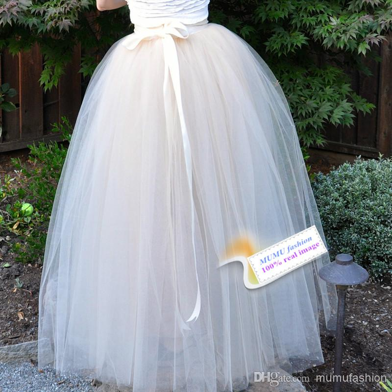 Discount High Quality 7 Layers Women Gauze Mesh Tulle Tutu Long Skirts Puffy For Princess Skater Skirt Midi Wedding Prom Ball Gowns Saias Online with $43.98/Piece | DHgate