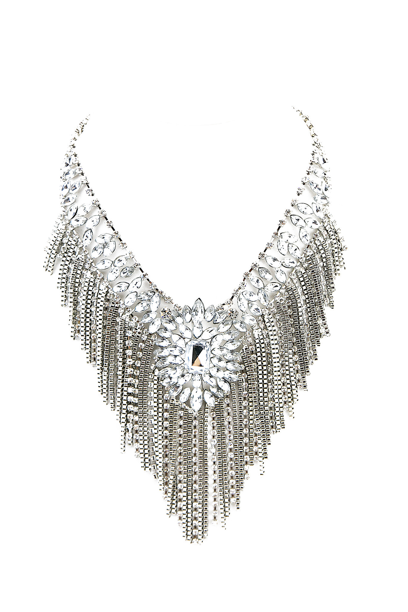 AVERY CRYSTAL CHANDELIER NECKLACE | Haute & Rebellious