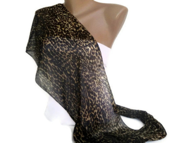 scarf chiffon summer leopard print leopard scarf leopard print scarf women brown scarf sexy spring outfits 2014 scarfs trends
