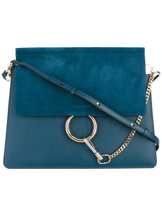 cross women bag leather blue suede