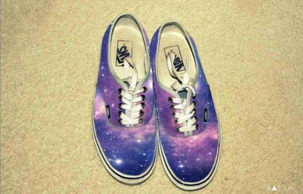 nebula galaxy print vans vans galax sneakers shoes vans sneakers clothes Vans galaxy internet