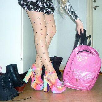 shoes zooji pastel grunge platform heels platform pumps heels pumps edgy y-r-u y-r-u shoes footwear platform sandals sandals style trendy cute fashionista yru