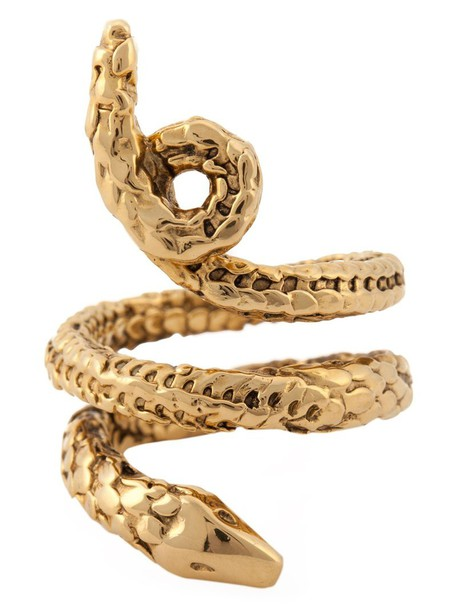 AURELIE BIDERMANN snake metallic women ring jewels