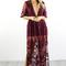 I got it all wine crochet lace maxi