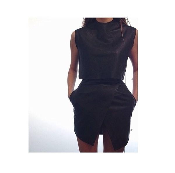 black top skirt