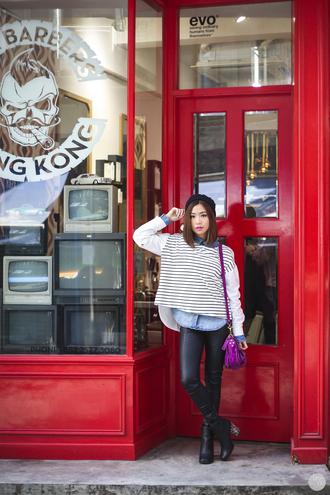 kryzuy blogger sailor leather pants top pants shoes bag