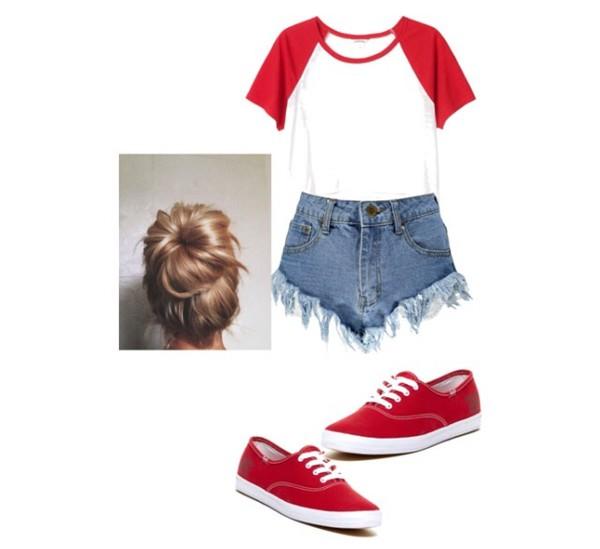shorts vans buns tumblr outfit baseball tee