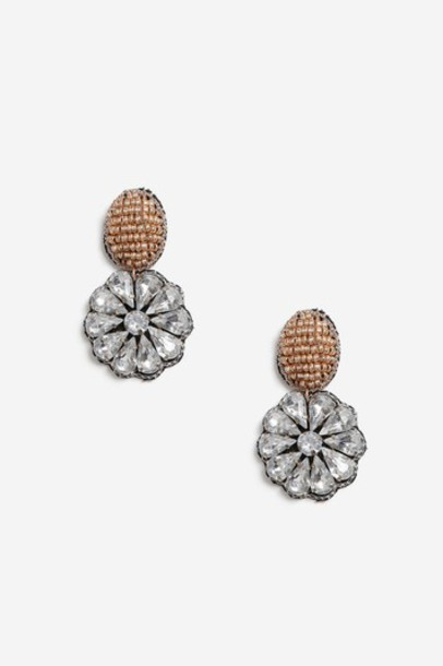 Topshop earrings pink jewels