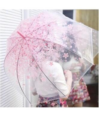 home accessory umbrella floral it girl it girl shop kawaii cherry blossom rainbow kawaii accessory