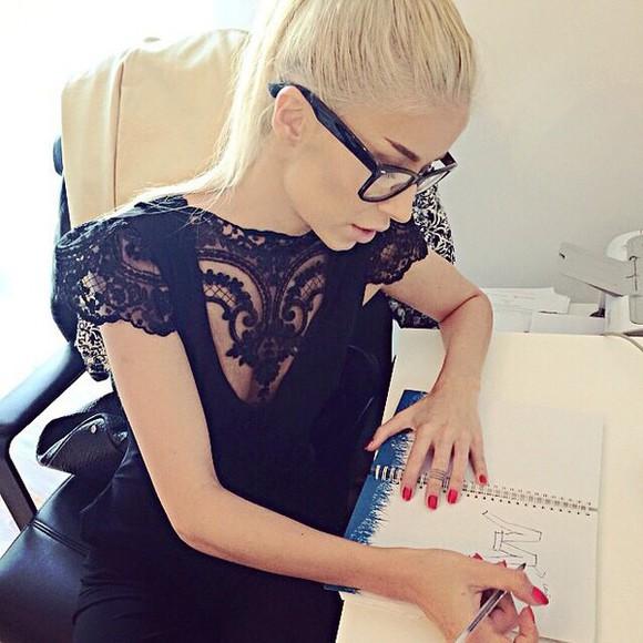 dress blouse lace dress black cotton style stylishf