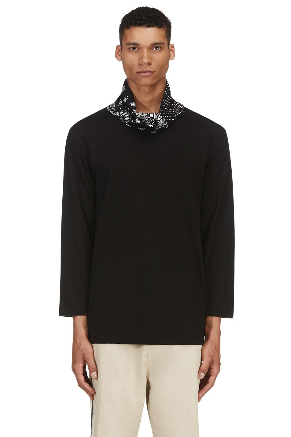 sasquatchfabrix black bandana turtleneck
