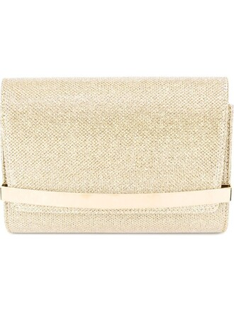 bow clutch metallic bag