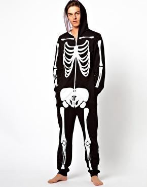 ASOS | ASOS Onesie With Skeleton Print at ASOS