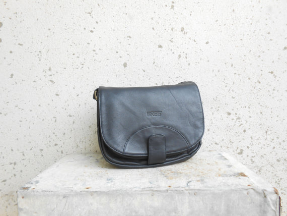 Vintage BREE Navy Blue Leather Crossbody Bag / by VindicoShop