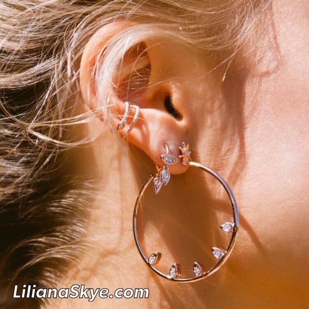 jewels liliana skye gold hoop earrings fancy jewelry earrings stylish girly gold jewelry big earrings chic trendy