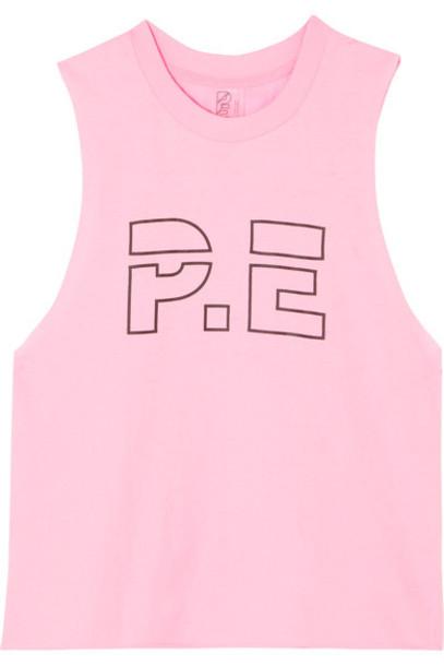 P.E Nation cotton pink top