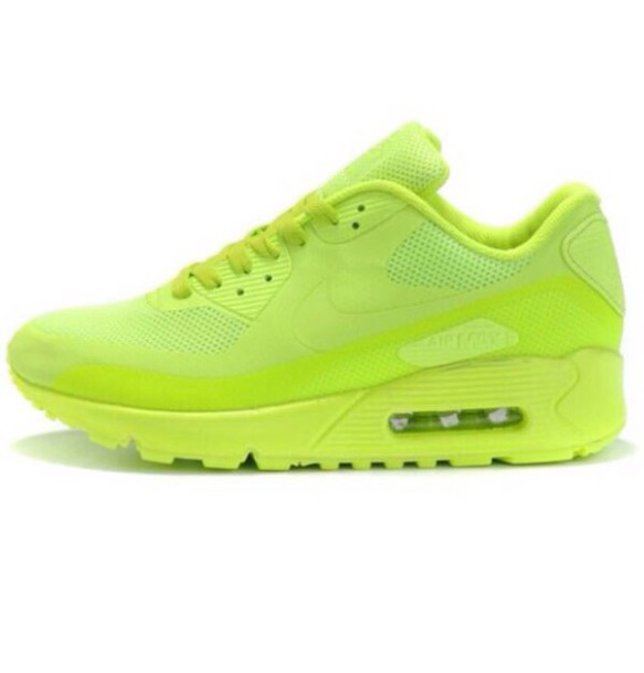 shoes neon green air max nike air max 90 hyperfuse normal material pattern  is plain 33308d09db